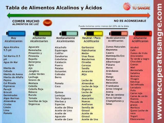 Alimentos alcalinos y ácidos
