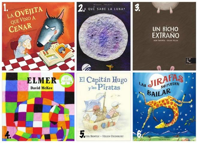 selección libros infantiles y cuentos para niños de 3 a 5 años