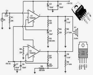 Skema TDA 2050 BTL ~ Dunia Elektronika
