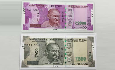 New 500 Rs and 2000 Rs Notes