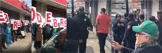 Dieciséis unidades de la policía disolvieron piquete contra Abel Martínez en Nueva Jersey