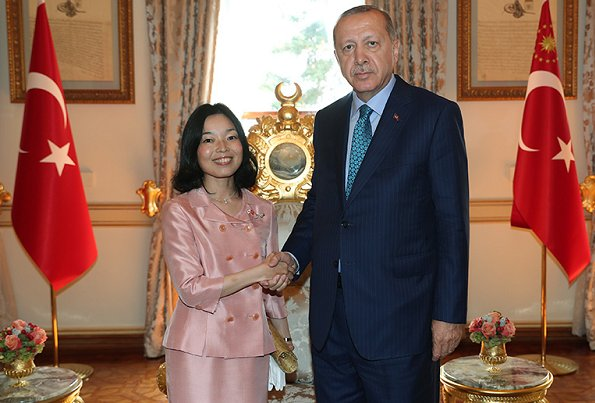 Turkish President Recep Tayyip Erdoğan hosted Japanese Princess Akiko