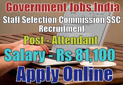 Staff Selection Commission SSC KKR Recruitment 2017 Apply Online