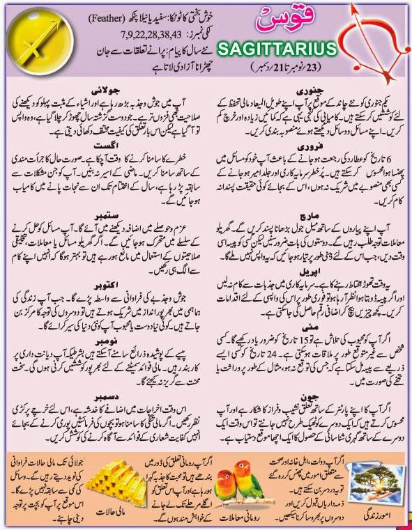 Horoscope date urdu sagittarius