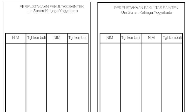 Format Kartu Punggung Buku Perpustakaan Docx