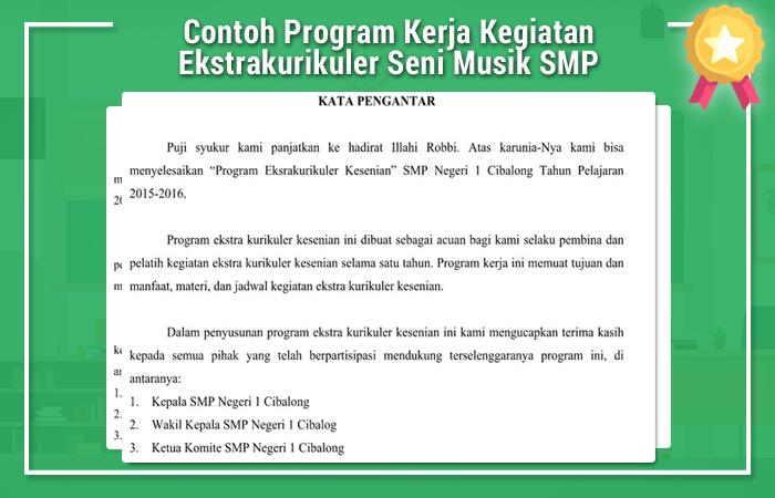 Contoh Program Kerja Kegiatan Ekstrakurikuler Seni Musik SMP