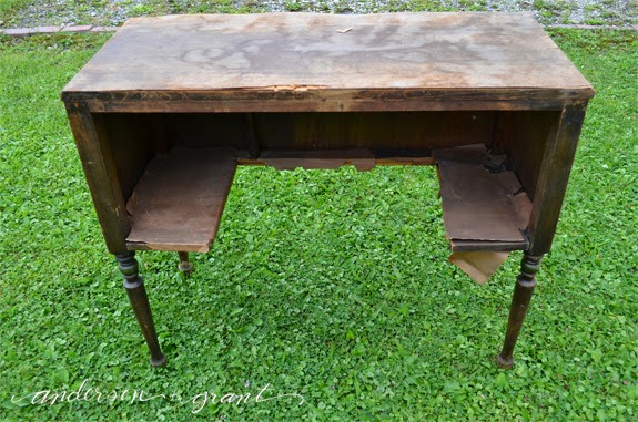 Vintage Radio Speaker Table | www.andersonandgrant.com