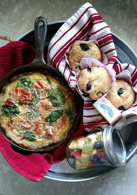 Smoked Salmon and Spinach Quiche ON MY PLATE
