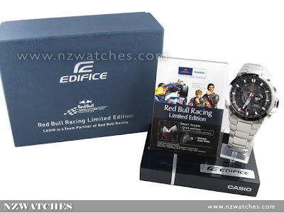Casio Edifice Red Bull Racing Solar EQS-A1000RB-1AV Vettel Webber F1 -  Limited 866491b6bd