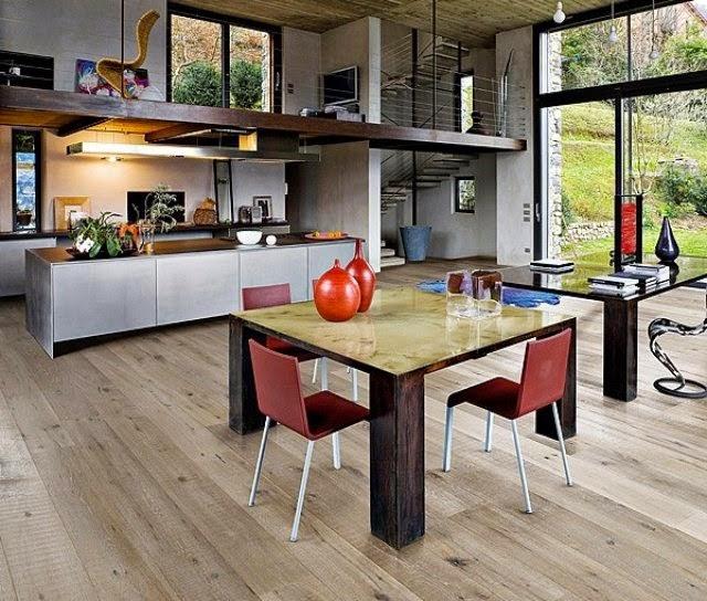 Fotos de comedor y cocina juntos colores en casa for Colores para cocina comedor