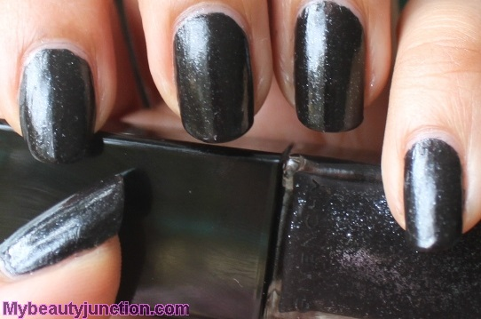Givenchy Vernis Please Noir Celeste black nail polish swatches