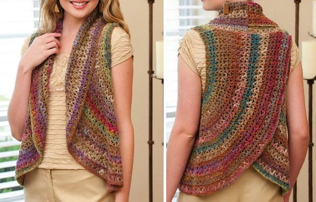 crochet crochet vest for woman