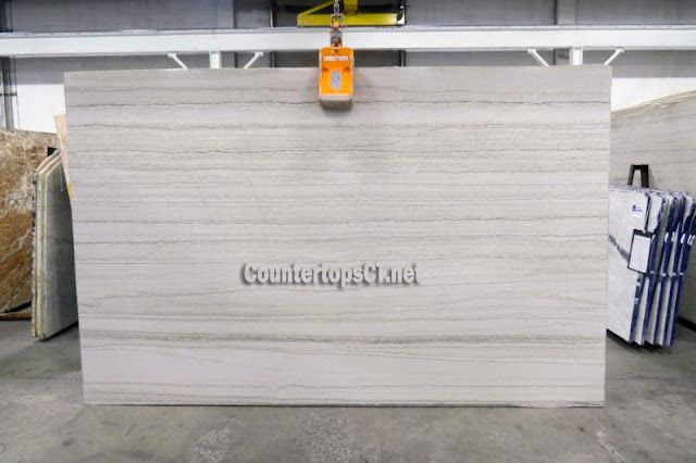 White Macauba quartzite countertops slabs