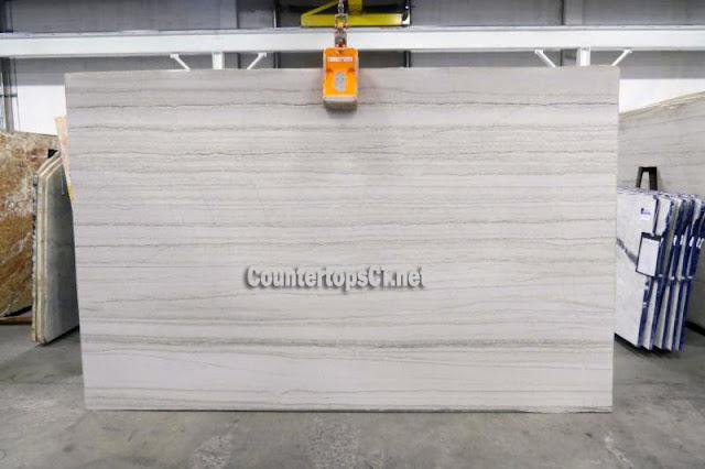 White Macauba quartzite countertops slabs