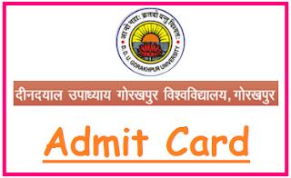 DDU Gorakhpur Admit Card 2020