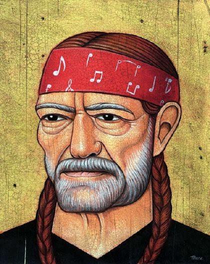 Willie Nelson - Grandes personalidades pintada por Marc Burckhardt