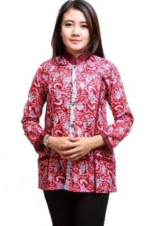gambar baju batik kantor wanita