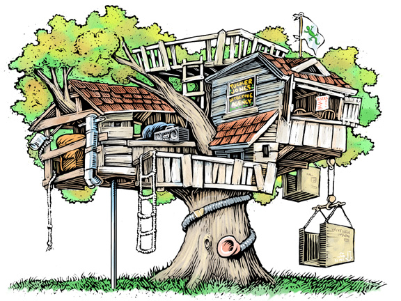 clipart pictures tree house - photo #14