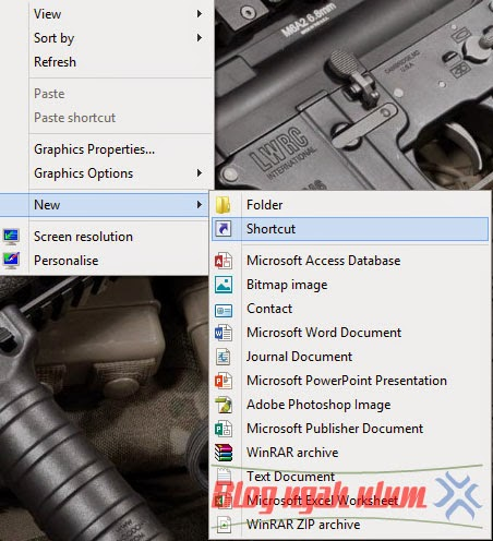 Tutorial Membuat Tombol Shutdown di Windows 8