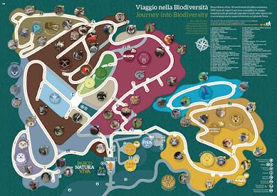 Mappa Percorso Faunistico Parco Natura Viva