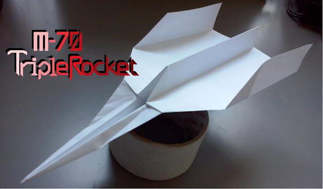 Avión de papel M-70 TripleRocket