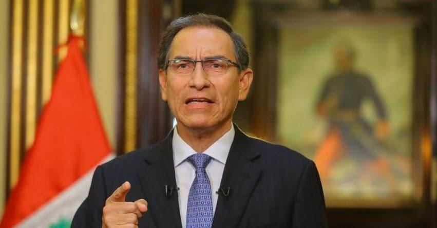 Presidente Vizcarra presentará mañana al Congreso Proyecto de Ley que declara en emergencia al Ministerio Público