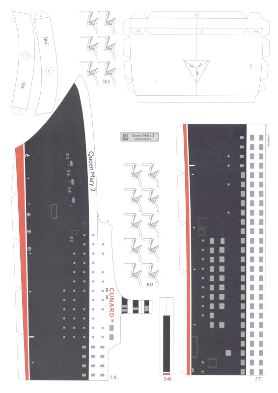 Ship My Car >> papercraft-database: [JSC 077] - Queen Mary 2