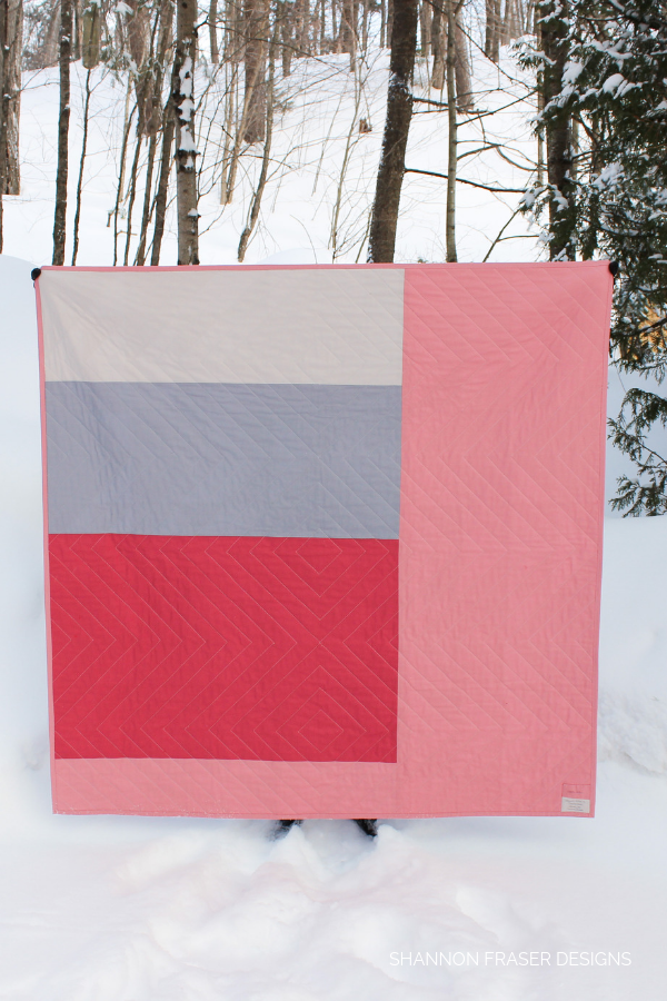 Backing of the Mod-Rose Modern Aztec Quilt | Shannon Fraser Designs