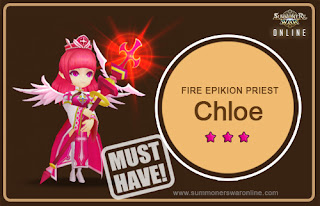 Gambar Chloe si Fire Epikion Priest Summoners War