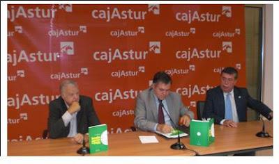 Presentación del libro: José Juan Iglesias Pintado, José Vega de Cajastur y Ángel Iglesias de FASFIL