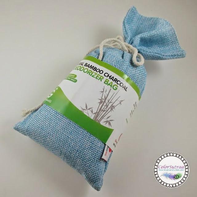 charcoal bamboo bag natural deodorizer