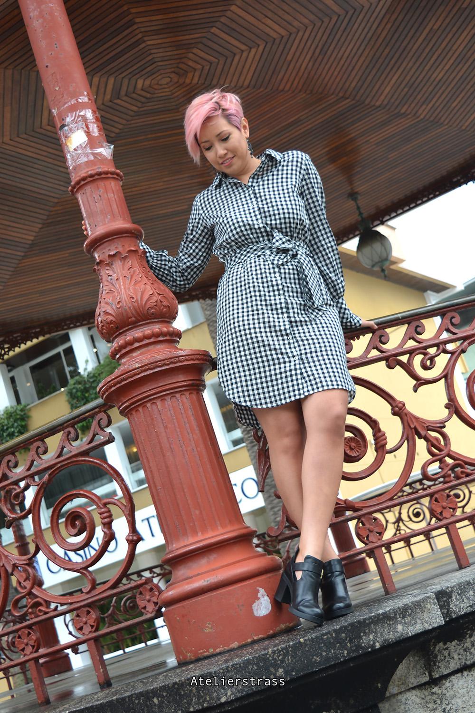 vestido con estampado vichy