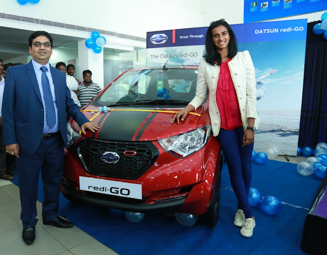 Datsun Gifts P V Sindhu Redi-GO Sport For Her Olympic Achievement