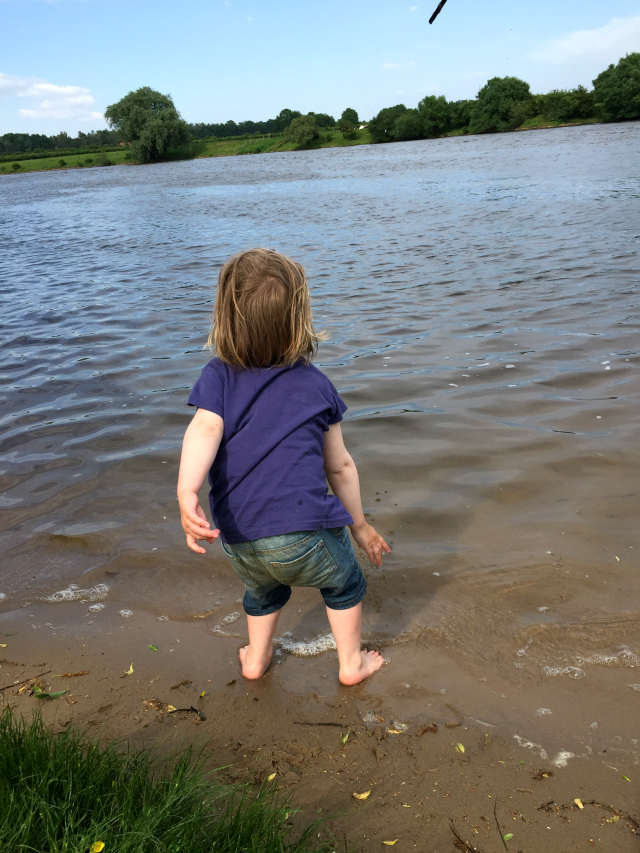 Stöcke in die Weser schmeißen, große Liebe! ♥