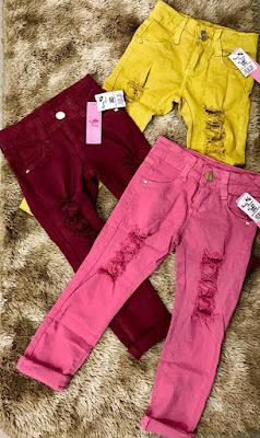 Jeans infantil do Brás