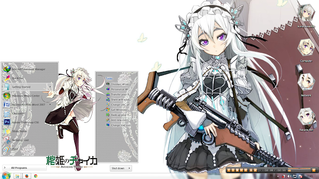 [Theme Win 7] Hitsugi no Chaika: Chaika Trabant By Irvan