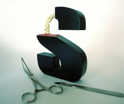 Escultura y arte con tipografía