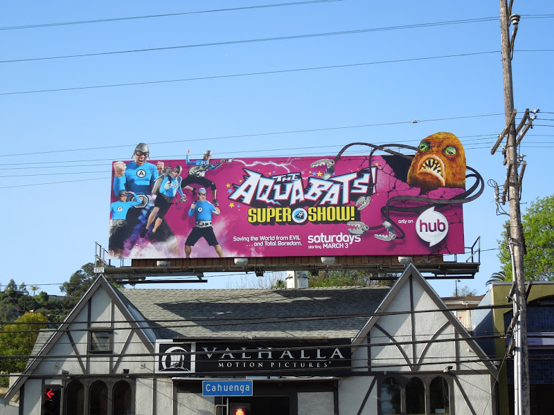 The Aquabats Hub billboard