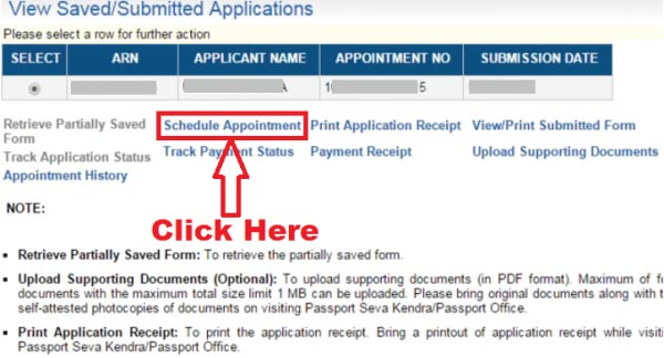 how to change appointment date in passport seva