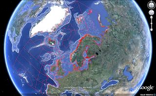 Google Earth and ocean depth contours