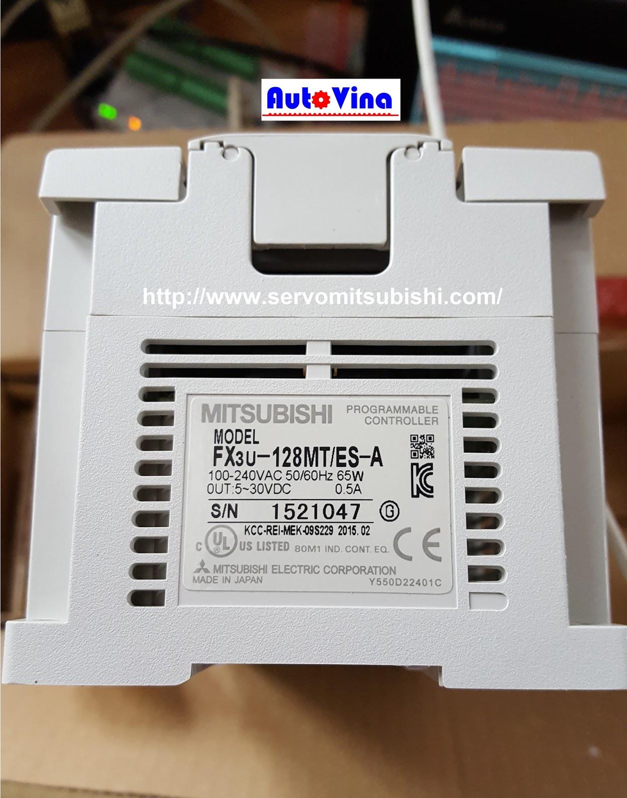 Đại lý bán, phân phối bộ điều khiển PLC Mitsubishi FX3U-128MT/ES-A giá bán tốt nhất