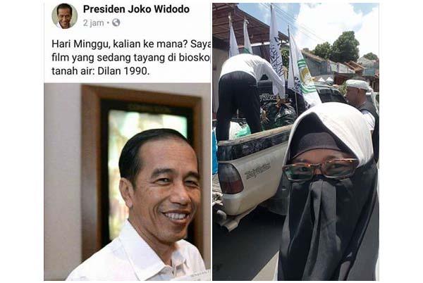 "Viral, Sindiran Telak Relawan Bencana Alam Cirebon ""Tampar"" Jokowi yang Hendak Nonton Dilan"