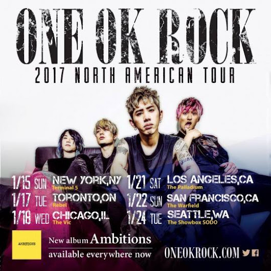 ONE OK ROCK Returns To North America