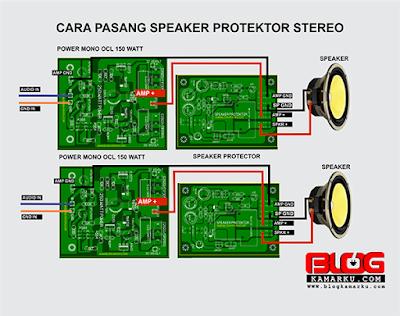 cara memasang speaker protector Pada Power Mono dan stereo