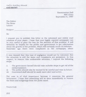 General English Letter to News Editor for Multi-topics - Inter/BA/BSc