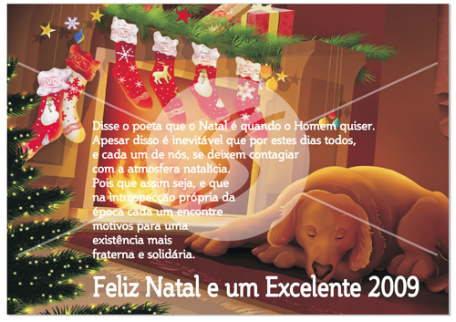 Cartão de Natal com Cachorro