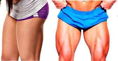 Evitar piernas delgadas entrenamiento