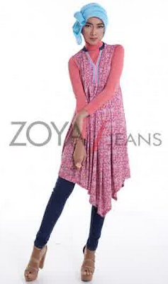 Model Baju Dress pendek Muslim Zoya Modern Terbaru