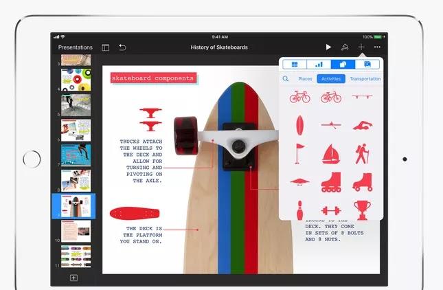 screenshot keynot di ipad