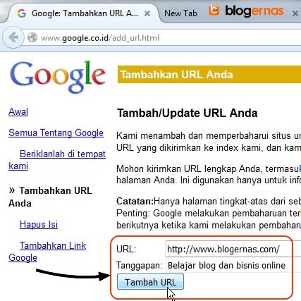 Cara Mendaftarkan Blog ke Google Search Engine